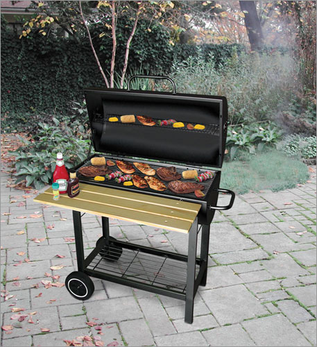 landmann-classic-barrel-grill-with-wood-shelf ...